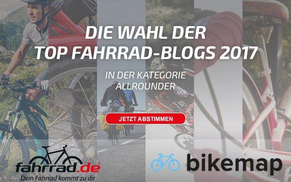 In eigener Sache – Top Fahrrad Blog 2017?